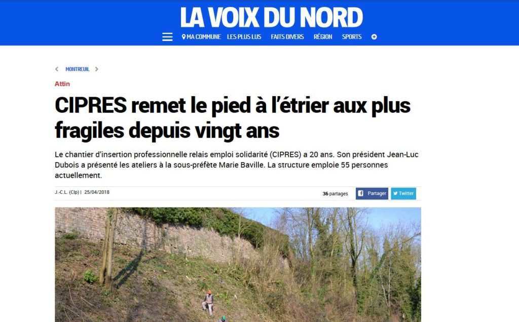 Articles sur CIPRES - La Voix du Nord